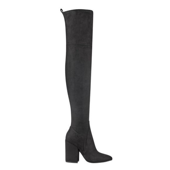 Kendall & Kylie Shoes - NWT Velvet over the knees boots